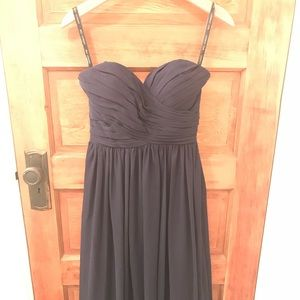 Navy Bill Levkoff bridesmaid dress (740) size 2